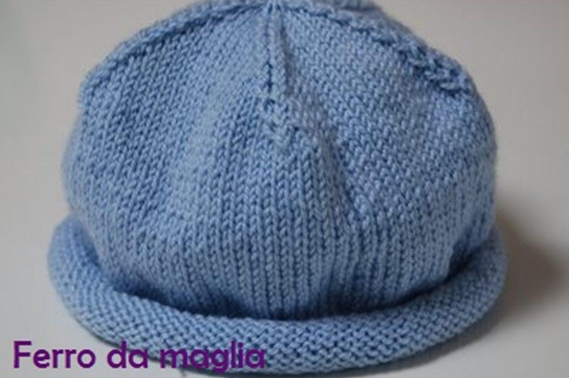 raccolto stile alla moda immagini dettagliate Cappellino per neonato - Ferro da maglia